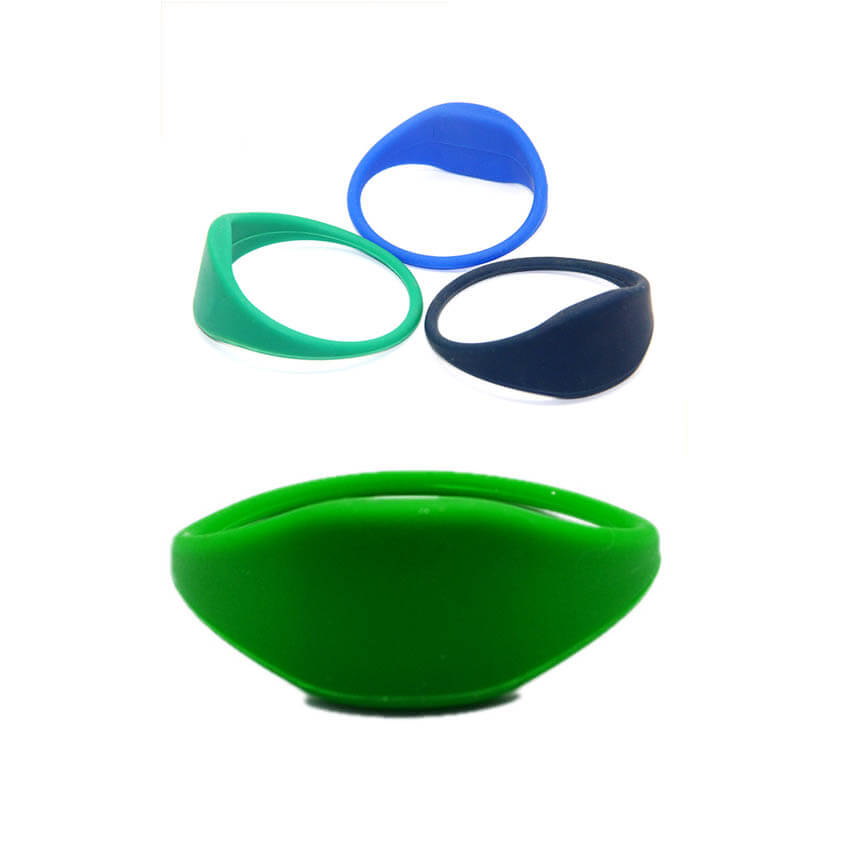 RFID Round Face Silicone Wristband