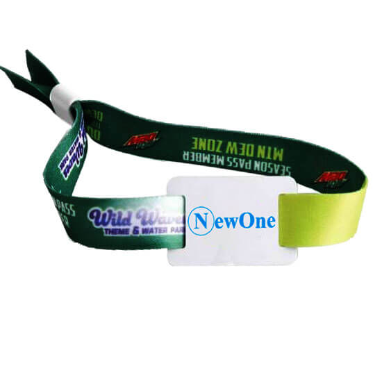 fabric rfid bracelet with soft pvc tag