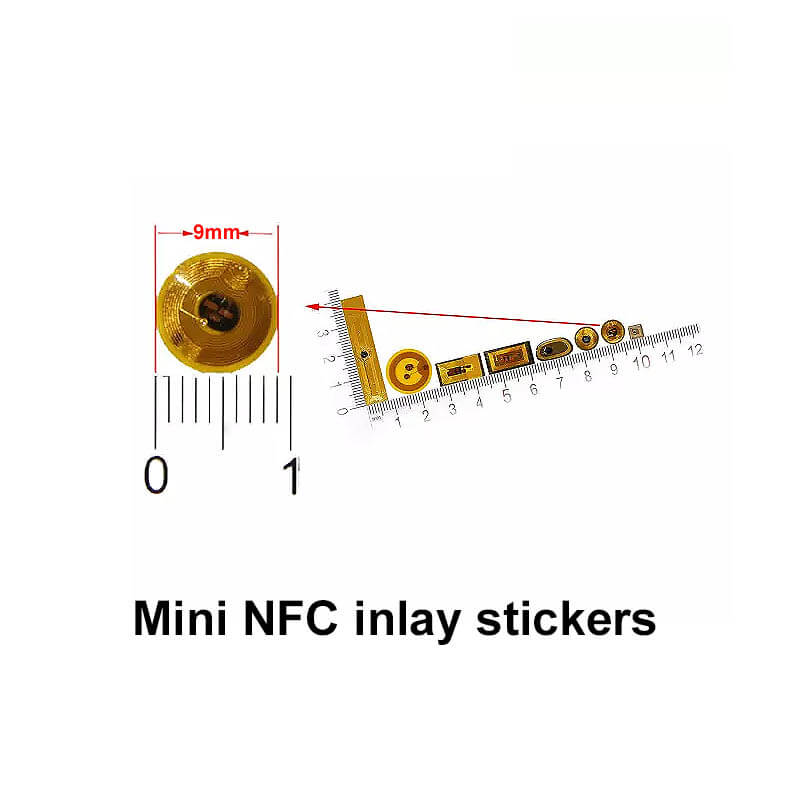 mini nfc inlay stickers