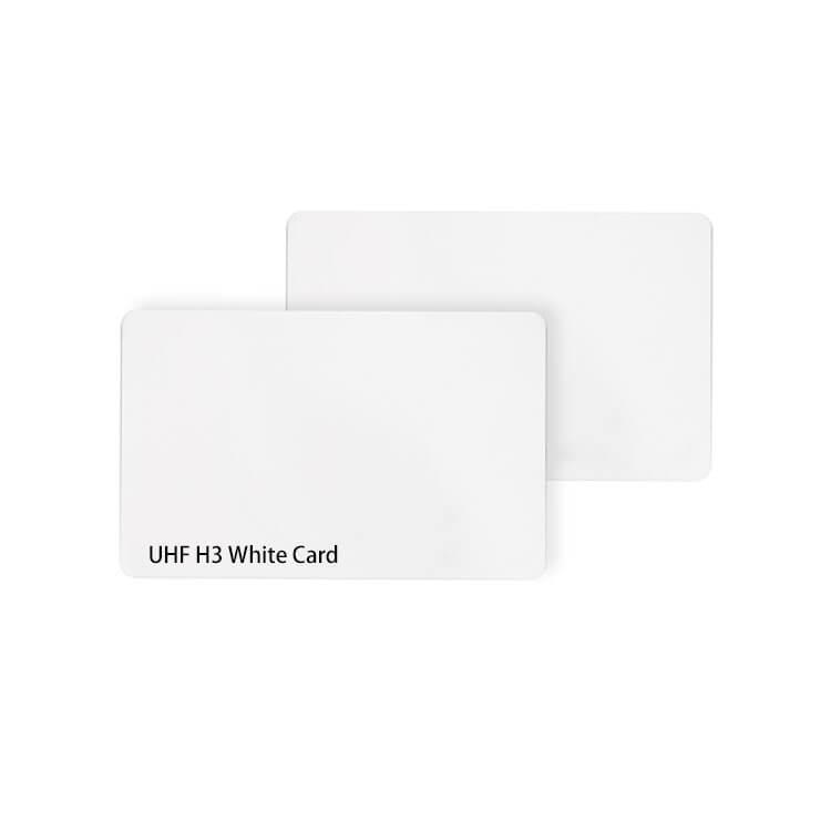 Cheap Blank White UHF RFID Smart Card ISO18000-6C